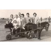 Rodzina Heising na molo, Sopot lata 40. XX w.