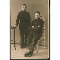 Antoni Bianga (po lewej) z przyjacielem Bernardem Noetzlem, ok. 1930 r.