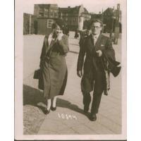 Jan Bianga i przyszła żona Elżbieta Colbe, Gdańsk 1934 r.