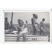 Barbara Nawrocka na plaży, Sopot 1958 r.