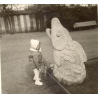 Beata Pachnik w Parku Południowym, Sopot lata 60. XX w.