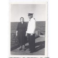 Augustyn Tarchała z żoną Eugenią, Sopot 1951 r.