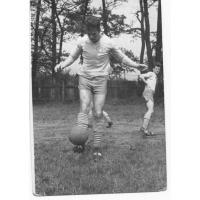Edward Hodura jako piłkarz Ogniwa, Sopot 1961 r.