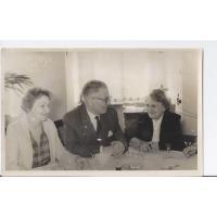 Alicja i Józef Niewęgłowscy z Zofią Serafinowicz, Sopot 1961 r.