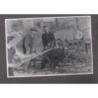 Józef Niewęgłowski przy odgruzowywaniu Gdańska, Sopot 1945 r.