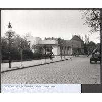 Gazowe oświetlenie na ul. Powstańców Warszawy, Sopot 1958 r.