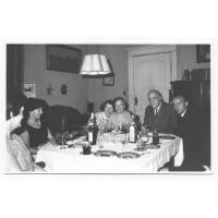 Rodzina Anflinków w mieszkaniu przy ul. Czyżewskiego, 1966 r.