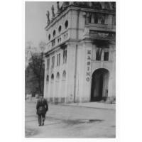 Sopot Kasyno, reprodukcja zdjęcia autorstwa J. Lipińskiego,  1945 r.