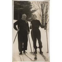Harald Koch z żoną Ruth na nartach, Sopot 1933 r.
