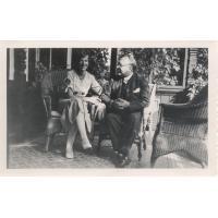 Ruth Asta Koch z mężem Haraldem, Sopot lata 1933 r.