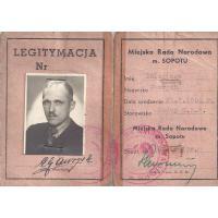 Legitymacja, Sopot, 1949 r.