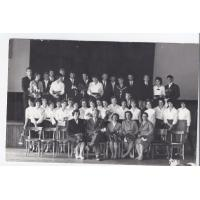 Zdjęcie maturzystów z II LO, Sopot 06.1960 r.