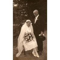 Jakub Schutta z żoną Janiną w dniu ślubu, 1926 r.
