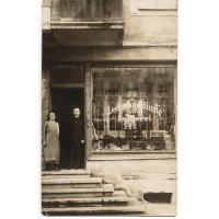 Sklep kaletniczo-siodlarski Jana Rzeppy przy Pommerschestrasse, Sopot 1928 r.