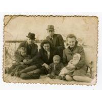 Rodzina Reczko na plaży, Sopot 1948 r