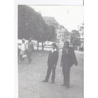Jerzy Karolak z bratem Januszem, Sopot 05. 1970 r.