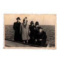 Tadeusz Włodarczak, Zofia i Władysław Kowalscy, Zofia i Antoni Jachimowscy, Sopot zima 1946 r.