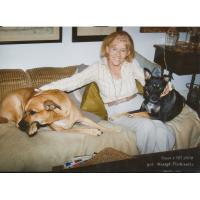 Krystyna Łubieńska ze swoimi psami.