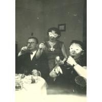 Karnawał u rodziny Pragert, Sopot 1955 r.