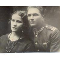 Michał Olichwier z narzeczoną Bronisławą Żuk, Brześć nad Bugiem 1925 r.