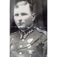 Michał Olichwier z odznaką Strzelca Wyborowego, Brześć nad Bugiem, 15.02.1929 r.