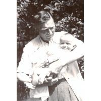 Michał Olichwier z wnukiem Krzysztofem, Sopot 1954 r.