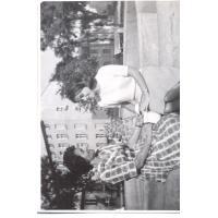 Michalina Krzyżanowska z ciotką, Sopot 1965 r.