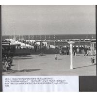 Molo i megafon radiofonii przewodowej, zwany kołchoznik - gigant, Sopot 1961 r.