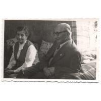 Prof. Urbanek z żoną, Sopot lata 50. XX w