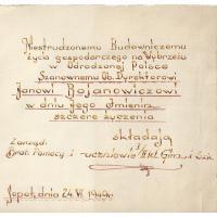 Podziękowania od uczniów, Sopot 1949 r.