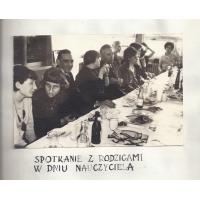 Spotkanie z rodzicami w Dniu Nauczyciela, SP 1, Sopot 1966 r.
