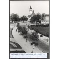 Ul. Bohaterów Monte Cassino, jeszcze jako jezdny trakt, Sopot 1958 r.