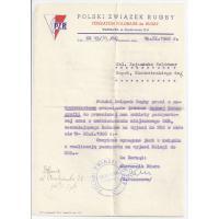 Dokumenty dotyczące zgrupowania przed meczem Polska-NRD
