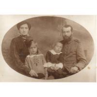 Walentyna Kurpisz-Roth i Gustaw Roth z dziećmi Izabellą i Gustawem, ok.1915-1916
