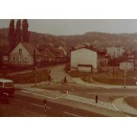 Skrzyżowanie Alei Niepodległośći z Armii Krajowej i Leśną, Sopot lata 60. XX w.