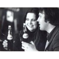 Pierwsza Pepsi w biurze BART-u, Wojciech Korzeniewski z koleżanką, Sopot ul. Chopina 10, lata 70. XX w.