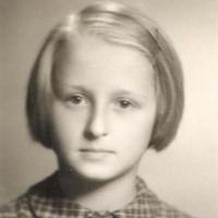 Dorota Starościak - pierwszoklasistka, Sopot 1956 r.