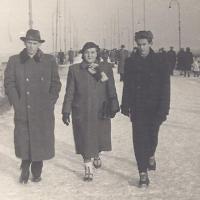 luty 1952, Jan, Janina i Marek Bojanowiczowie